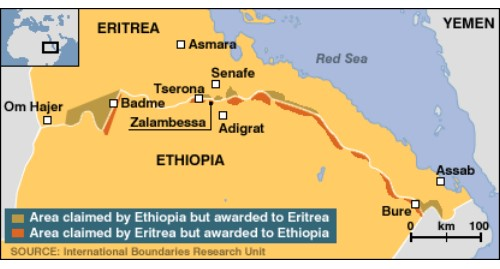 U.S. calls for restraint against the hostilities between Ethiopia and Eritrea