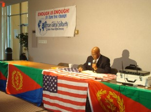 Seyoum Tesfaye Chairman of the Eritrean Global Solidarity