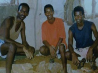From left to right: Paulos Eyassy, Isaac Mogos, and Negede Teklemariam, imprisoned since September 24, 1994, for their conscientious objection to serving in the Eritrean military
